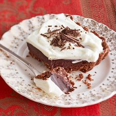 A buttery cocoa- and almond-flavored crust is topped with chocolate and whipped almond mascarpone: http://www.bhg.com/recipes/desserts/pies/chocolate-pies/?socsrc=bhgpin021114bittersweettruffletart&page=13