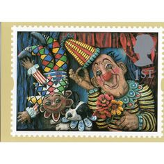 Royal Mail GS3 Circus Clowns Postcard Based on 1995 1st Class stamp Listing in the Advertising,Postcards,Collectables Category on eBid United Kingdom   149826563