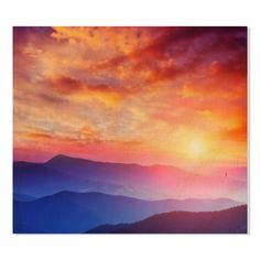 Gallery Direct Mountain Landscape Print on Birch Wall Art