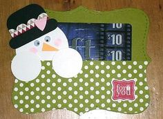 Stampin' Up Snowman Top Note Gift Card Holder
