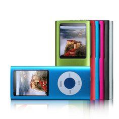 """Reproductor MP3/MP4 con radio, incluye auriculares, cargador y cable USB (8 GB, pantalla TFT de 1,8"""")"""