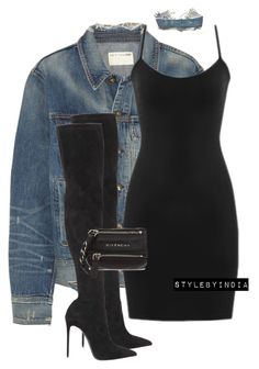 """Untitled #1684"" by stylebyindia ❤ liked on Polyvore featuring rag & bone, Le Silla, Levi's and Givenchy"