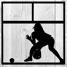 Softball Scrapbook Overlay Scrapbooking Layouts, Scrapbook Paper, Softball Backgrounds, Overlays, Embellishments, Card Stock, Cricut, Sports, Fictional Characters