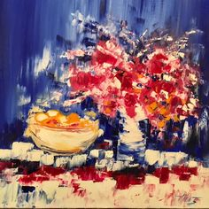 Red Floral, 32x32, by Vilcaz. Available at The Westport River Gallery. http://www.westportrivergallery.com/vilcaz-corrine-french-expressionist.html
