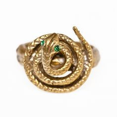 Alkemie Coiled Snake Ring (960 CNY) found on Polyvore snake rings 蛇环 20121202