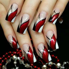 Red Ribbon Bang Red Ribbon Bang More from my site Red & Silver New Collections of Best Valentine's Day Nail Art Design Fantastic Red Nails Ideas For Stylish Ladies ✨ REPOST – – Elegant Nail Designs, Red Nail Designs, Elegant Nails, Stylish Nails, Acrylic Nail Designs, Pretty Nail Art, Beautiful Nail Art, Gorgeous Nails, Cool Nail Art