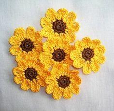 6 Handarbeit häkeln Sonnenblumen von shina auf Etsy