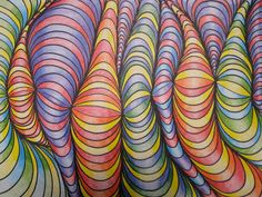 Line Designs with Shading | TeachKidsArt Create your own colouring page. Easy to do and looks fabulous.