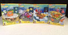 NEW Mega Bloks LOT Of 4 Spongebob Squarepants RACER'S Patrick Mr Krabs Squidward #MegaBloks
