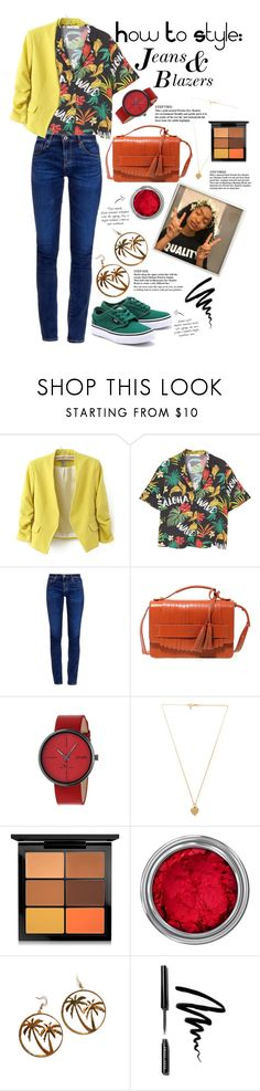 """""""Pegasus Styles : Jeans & Blazers"""" by pegasusblack ❤ liked on Polyvore featuring Vans, WithChic, MANGO, AG Adriano Goldschmied, POMIKAKI, Simplify, Vanessa Mooney, MAC Cosmetics, Concrete Minerals and Bobbi Brown Cosmetics"""