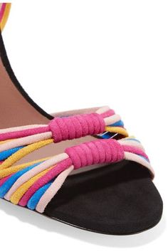 Tabitha Simmons - Jamie Knotted Suede Sandals - Fuchsia - IT35.5