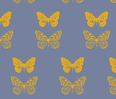 Golden Butterflys fabric by nascustomwallcoverings on Spoonflower - custom fabric