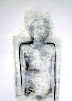 Annct Braunsteiner 'anon no.19' Black Ink, Charcoal, Acrylic on Paper - AnnCT 11/2011  http://annctbraunsteiner.com/painting/art-work-2011/