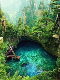 Hidden nature paradise, who wants to swim there? 🌿 To Sua Ocean Trench, Samoa,Pacific Ocean. Romantic Places, Beautiful Places To Travel, Wonderful Places, Cool Places To Visit, Beautiful World, Places To Go, Romantic Travel, Vacation Places, Dream Vacations