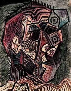 Pablo Picasso: Self-portrait Facing Death (1972) ~ Pallimed: Arts and Humanities