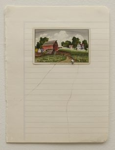 To Go Back (pink house) / works on paper / liliana porter