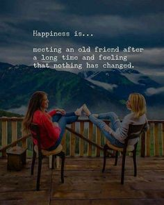 happy quotes & We choose the most beautiful Meeting an old Friend after Long Time - Happiness Quotes for you.Meeting an old Friend after Long Time - Happiness Quotes most beautiful quotes ideas Old Friend Quotes, Best Friend Quotes Funny, Besties Quotes, Happy Quotes, Positive Quotes, Happiness Quotes, Meeting Friends Quotes, Long Time Friends Quotes, Old Memories Quotes