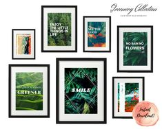 ART PRINT   Greenery Collection   Art Print Sets   Digital Download or Physical Print   Warm Positive Quote   Wall Art   Home Décor No Rain No Flowers, Group Art, Decoration, Wall Art Decor, Greenery, Life Is Good, Digital Art, Gallery Wall, Collections