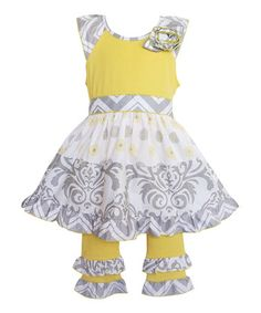 cf1d8e5aa Another great find on #zulily! Yellow Damask Top & Pants - Infant,