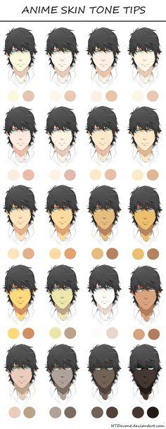 61 new ideas skin color palette anime Digital Painting Tutorials, Digital Art Tutorial, Art Tutorials, Digital Paintings, Drawing Tutorials, Painting Tips, Skin Color Palette, Palette Art, Skin Drawing