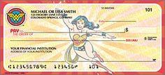 Wonder Woman Personal Checks - Set of 100 Checks Unlimited http://www.amazon.com/dp/B00K91ZL90/ref=cm_sw_r_pi_dp_7Zp1tb0ZW0F51NSC