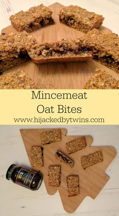 Hijacked By Twins: Mincemeat Oat Bites Oat Bars, Oatmeal Bars, Leftovers Recipes, Brunch Recipes, Minced Meat Recipe, Mincemeat, Baked Oats, Tasty, Yummy Food