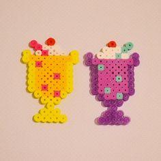 Milkshakes perler beads by queenbead
