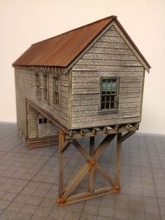 Railroad Line Forums - Fos Scale Models Red Hook Wharf Build HO scale Old Western Towns, Ho Scale Buildings, Model Train Layouts, Play Houses, Doll Houses, Miniature Houses, Model Building, Layout Inspiration, Little Houses