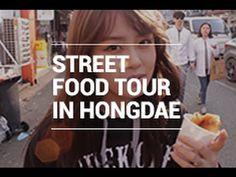 Street Food Tour in Hongdae / 홍대 길거리 음식 by WishtrendTV.com