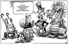 This cartoon from the Economist is poking fun at containment strategies and immigration trends. Political Cartoons, Culture, This Or That Questions, Equality, 30th, Fun, Politics, Action, Trends
