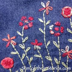 simple pocket embroidery design