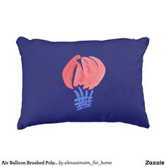 Air Balloon Brushed Polyester Accent Pillow