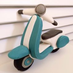 Vespa Scooter Cake Topper
