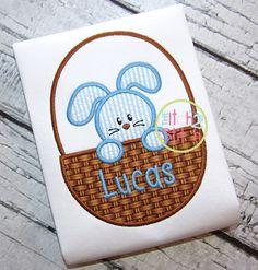 I2S Easter Bunny Basket 3 Applique design