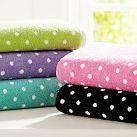 Dottie Towels, Bright Pink, Set of Three