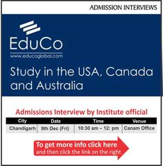 Study in the USA, Canada and Australia. For complete information & enrolment, Register Today!  #StudyinUSA #StudyinCanada #StudyinAustralia #StudentVisaExperts #CanamConsultants