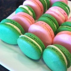 "Macaron (French Macaroon) | ""This is a perfect recipe for Macarons; I have made them several times and each time I get perfect round mounds with no cracks."""