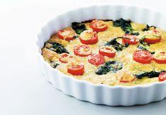 Paj i form. Omelet, Quiche, Parmesan, Feta, Good Food, Vegetarian, Dinner, Cooking, Breakfast
