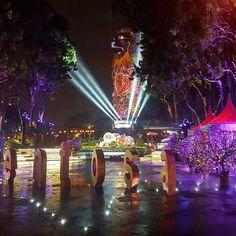 Instagram【throughtheglass.94】さんの写真をピンしています。 《#singapore #싱가폴 #sentosa #merlion #park #lion #rawr #overview #day #buildings #city #view #travel #밤 #도시 #여행 #シンガポール #夜景 #夜 #旅行 #マーライオン #こうえん #사자 #마라이온》