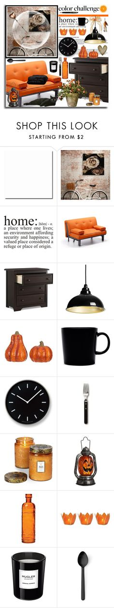 """Black and Orange at Home"" by leegal57 ❤ liked on Polyvore featuring interior, interiors, interior design, home, home decor, interior decorating, WALL, Graco, iittala and Lemnos"