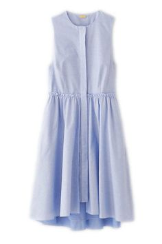 flounce layered shirtdress by katie ermilio for steven alan. Dress Skirt, Dress Up, Shirt Dress, Fashion Vestidos, Look Retro, Spring Dresses, Dress Summer, Women's Dresses, Cheap Dresses