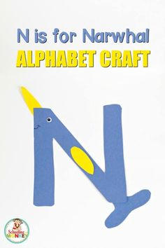 Make learning the letter N fun and memorable with this N is for narwhal letter craft! It's the perfect kindergarten activity or preschool activity. Letter N Activities, Alphabet Letter Crafts, Alphabet Book, Kindergarten Activities, Letter Tracing, Letter Art, Winter Activities, Classroom Activities, Teaching Letters