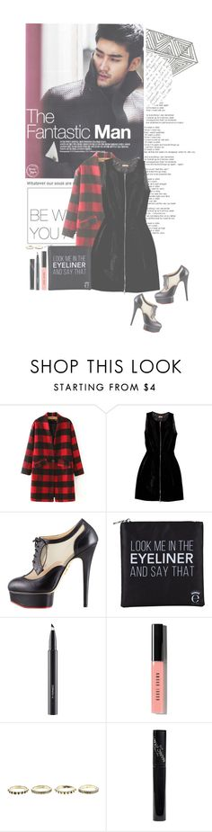 """""""Everything goes with black...mascara"""" by glitterlovergurl ❤ liked on Polyvore featuring Alaïa, Charlotte Olympia, Eyeko, MAC Cosmetics, Bobbi Brown Cosmetics and Manic Panic"""