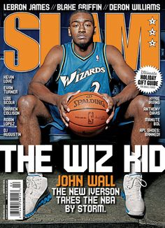 SLAM Washington Wizard John Wall appeared on the cover of the issue of SLAM Magazine Slam Basketball, Street Basketball, Basketball Pictures, Basketball Legends, Love And Basketball, Nba Pictures, Kentucky Basketball, Basketball Shirts, Kentucky Wildcats