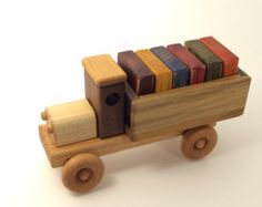 Items similar to Wooden Toy Steamroller on Etsy