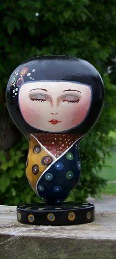 Japanese Kokeshi Doll Gourd