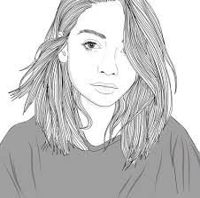 outline, art, and drawing εικόνα Tumblr Girl Drawing, Tumblr Drawings, Tumblr Art, Tumblr Girls, Tumblr Outline, Outline Art, Outline Drawings, Cute Drawings, Hair Drawings
