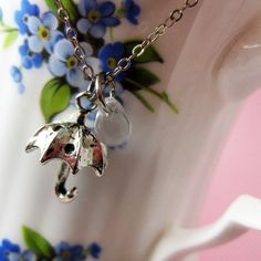Rainy Day Umbrella Necklace by SweetWhatevers on Etsy, $11.00