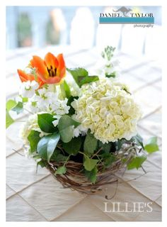 bird nest centerpiece