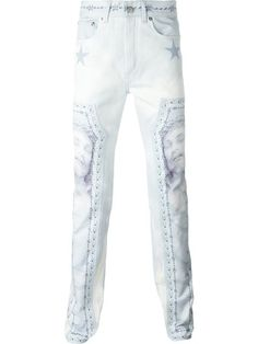 GIVENCHY Christ Print Jeans. #givenchy #cloth #jeans